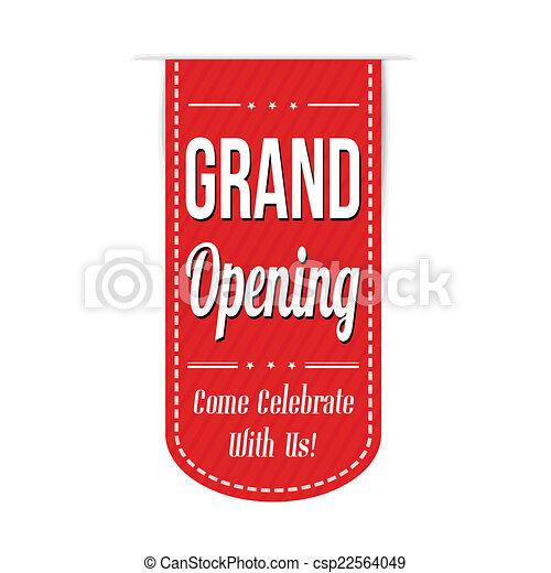 Grand opening banner design - csp22564049