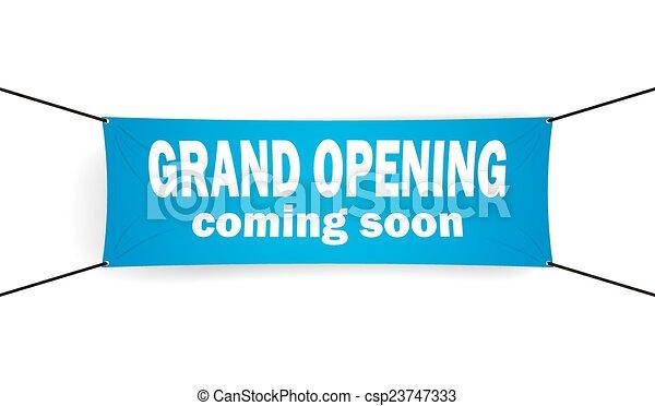Grand opening banner - csp23747333