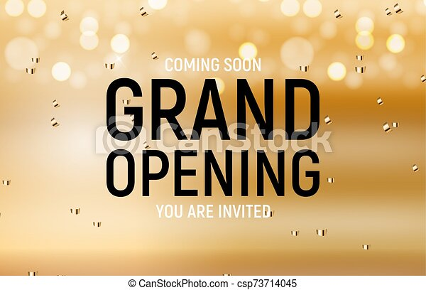 Grand opening concept. Vector Illustration - csp73714045