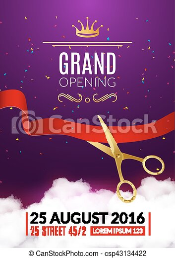 Grand Opening Flyer Template Vectors  Search Clip Art Illustration