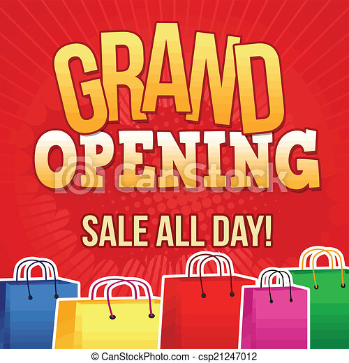 Grand opening poster - csp21247012