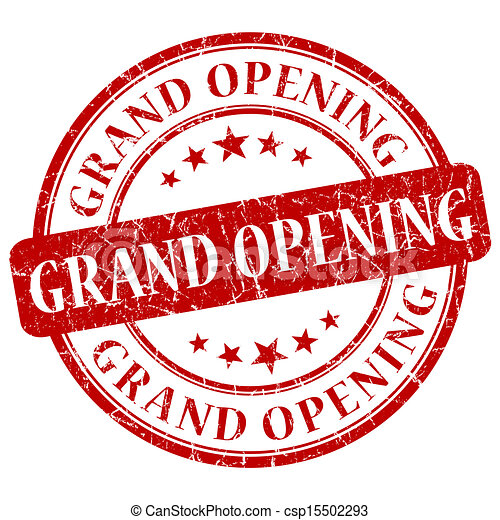 grand opening red grunge stamp stock illustration search vector rh canstockphoto com Grand Opening Event Flyer grand opening banner clip art