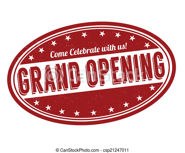 Grand opening stamp - csp21247011