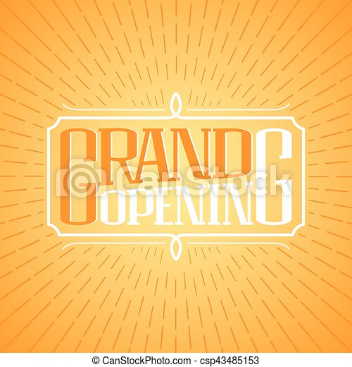 Grand opening vector banner illustration poster invitation grand opening vector banner illustration poster invitation stopboris Image collections