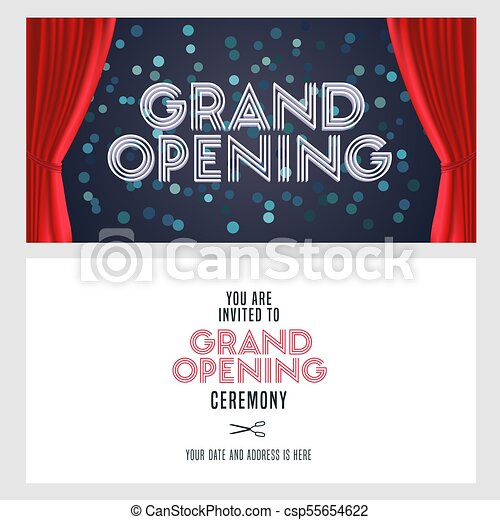 exquisite opening ceremony invitation poster vector photo credit to httpswwwpinterestcompin569705421588772703
