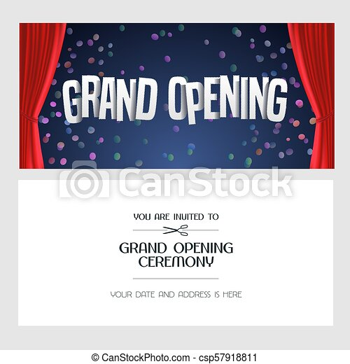 Grand opening vector banner invitation grand opening vector banner grand opening vector banner invitation stopboris Image collections