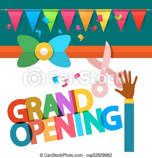 Grand Opening Vector Design - csp52829962