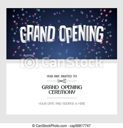 grand opening vector illustration invitation card