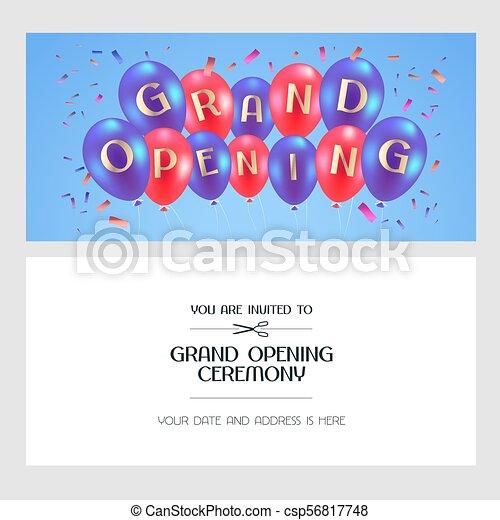 opening ceremony invitation