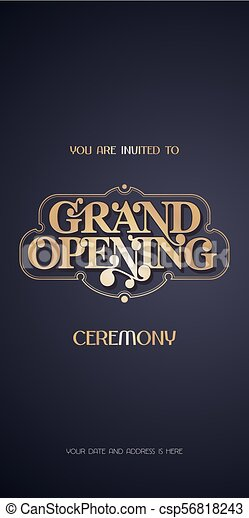 Grand Opening Vector Illustration Invitation Card For New Shop