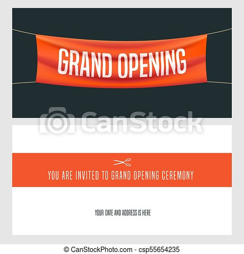 Grand opening vector illustration invitation grand opening grand opening vector illustration invitation stopboris Image collections