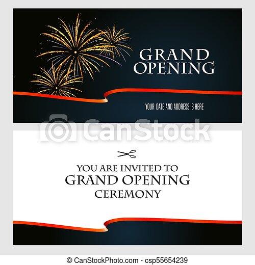 grand opening vector illustration invitation grand opening vector