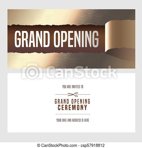 Grand Opening Vector Illustration Invitation