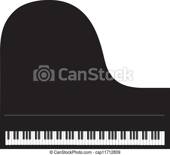 Grand Piano Background - csp11712809