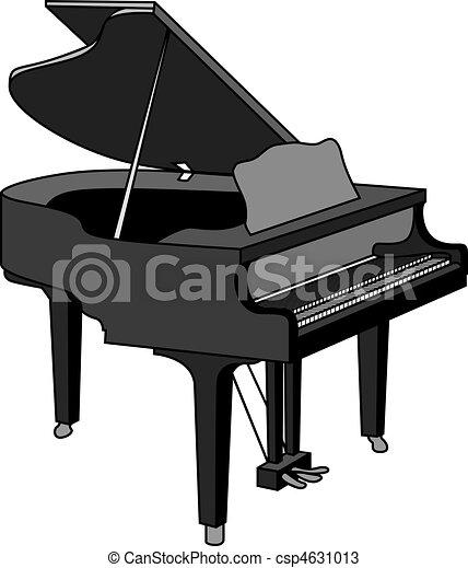 A grand piano vectors - Search Clip Art, Illustration, Drawings ...