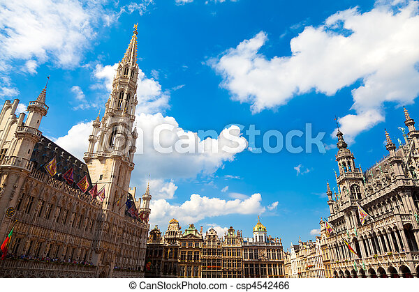 Grand Place, Brussels - csp4542466