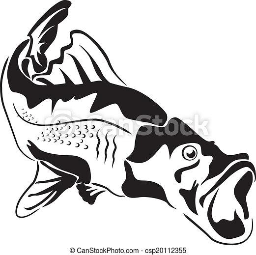 grand poisson, prédateur - csp20112355