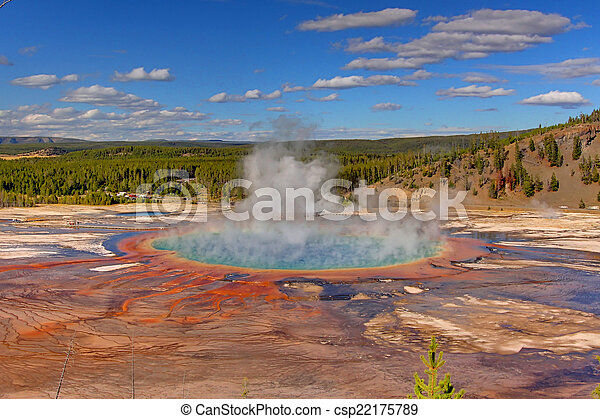 Grand Prismatic Spring In Yellowstone - csp22175789