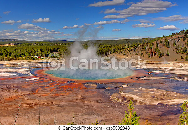Grand Prismatic Spring In Yellowstone - csp5392848
