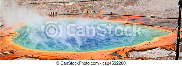 Grand Prismatic Spring In Yellowstone - csp4532200