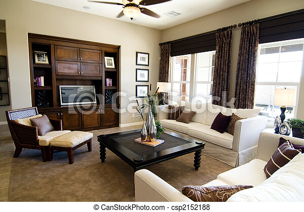 grand, salle, vivant - csp2152188