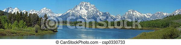 Grand tetons panoram - csp0330733