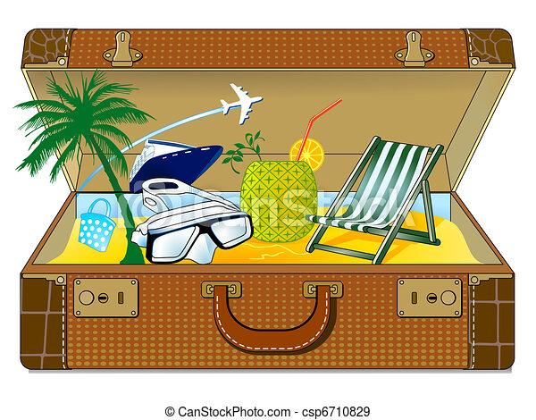 Grand vacances valise - Dessin de vacances ...