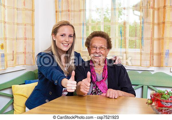 grandchild visits grandmother - csp7521923