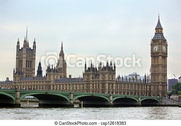 Gran Ben, arquitectura gótica de Londres, Reino Unido - csp12618383