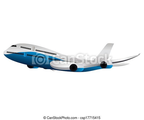 grande, avião passageiro - csp17715415