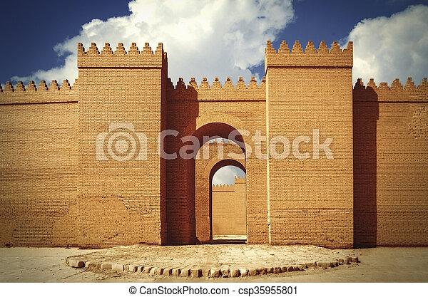 Las grandes murallas de Babylon - csp35955801
