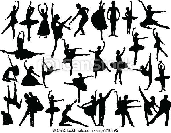 Gran colección de ballet, vector - csp7218395