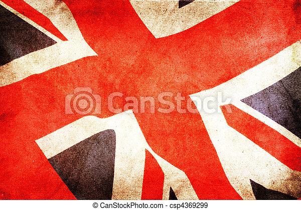 Gran bandera británica - csp4369299