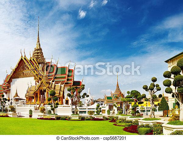 grande, bangkok, tailandia, palazzo - csp5687201