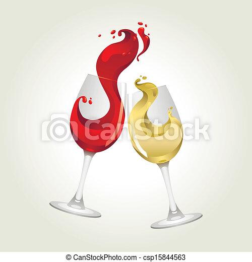 grande, branca, respingo, vinho tinto - csp15844563