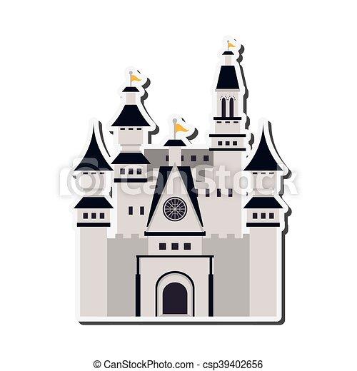 Gran icono del castillo - csp39402656