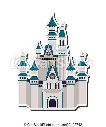 Gran icono del castillo - csp39402742