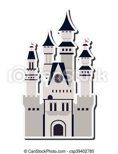 Gran icono del castillo - csp39402780