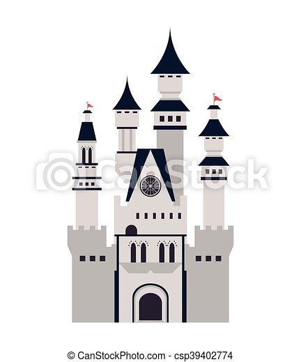 Gran icono del castillo - csp39402774