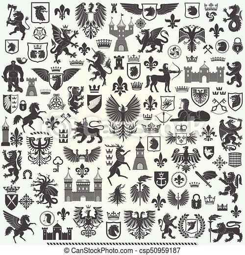 Gran colección de heraldo - csp50959187