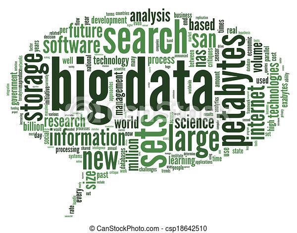 grande, concepto, palabra, nube, datos - csp18642510