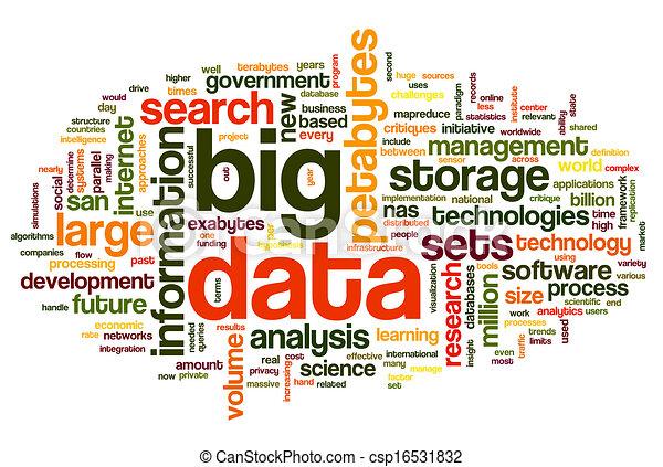 grande, concepto, palabra, nube, datos - csp16531832