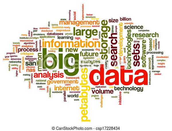 grande, concepto, palabra, nube, datos - csp17228434