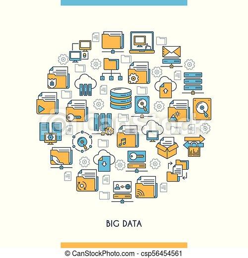 Gran concepto de tecnología de datos - csp56454561