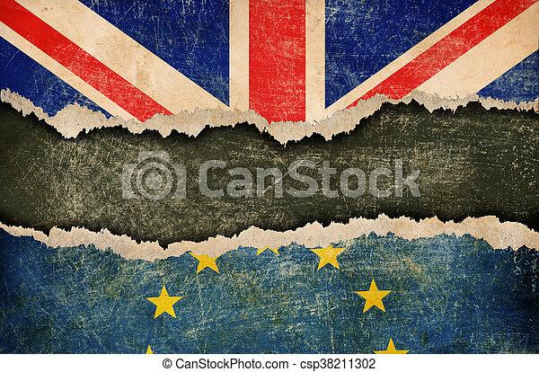 La retirada de Gran Bretaña del concepto de la Unión Europea - csp38211302