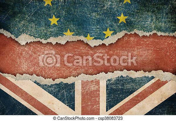 La retirada de Gran Bretaña del concepto de la Unión Europea - csp38083723
