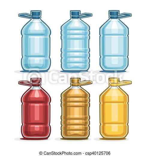 Pon botellas de plástico grandes - csp40125706