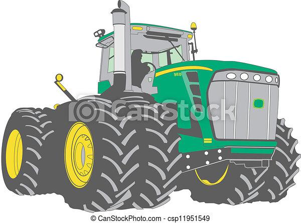 grande, cultive trator - csp11951549