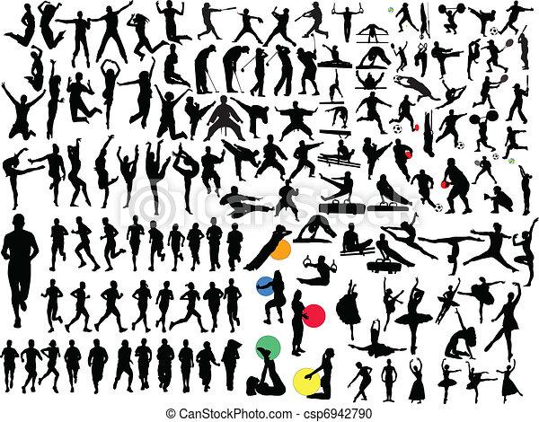 grande, differente, sport, collezione - csp6942790