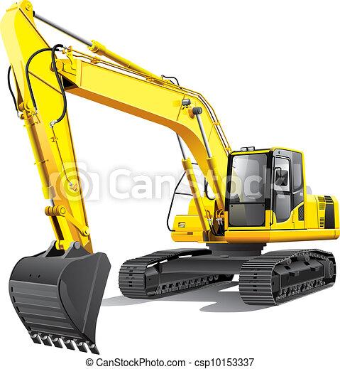 grande, escavador - csp10153337